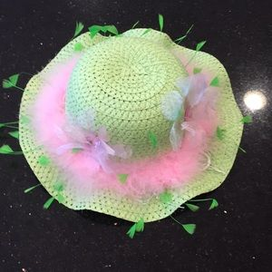 COPY - Kids Spring Bonnets Green and Pink Custom